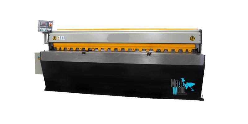 Cizallas mecánicas motorizadas, con tope trasero automático o manual, ajuste cuchillas rápido