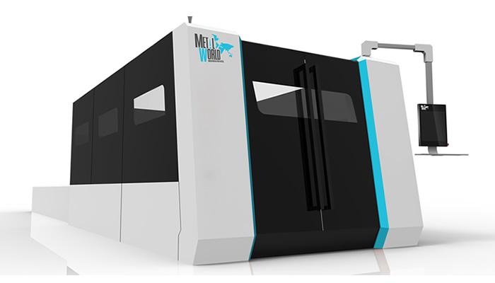 Máquina de corte Láser de gran Formato con Cabina, y Guías lineales de precisión