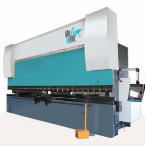 Dobladora Hidráulica para Lámina MW-PBH CNC con estructura de acero soldada con relevo de tensiones